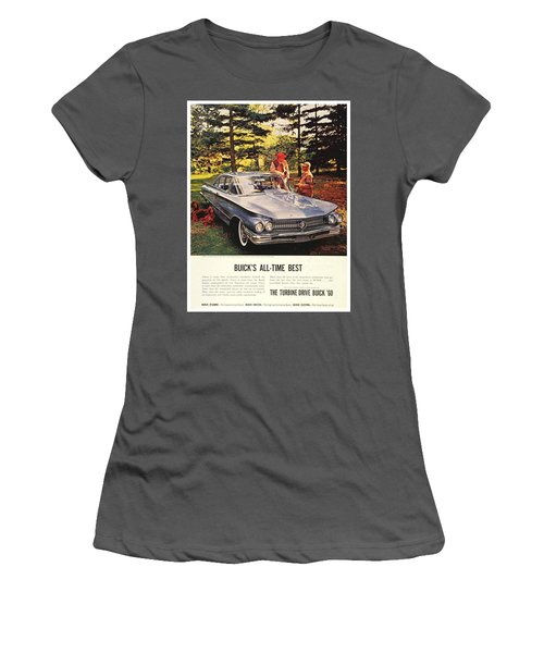 1960 - Buick Lesabre Sedan Advertisement - Color Women's T-Shirt (Athletic Fit)