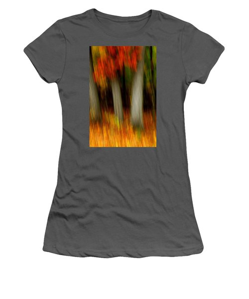 Blazing In The Woods Women's T-Shirt (Athletic Fit)