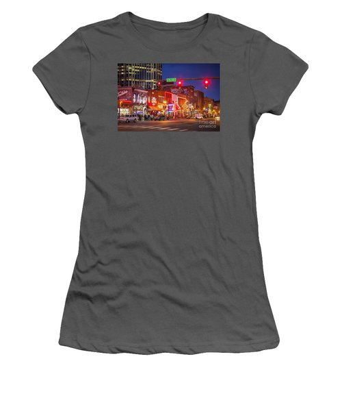 Broadway Street Nashville Women's T-Shirt (Athletic Fit)