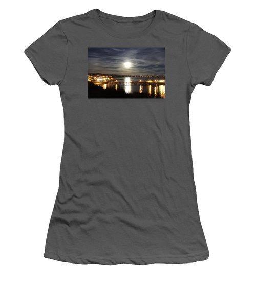 Capitola Moonscape Women's T-Shirt (Athletic Fit)
