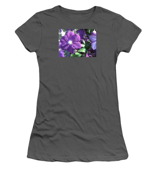 Clematis With Blazing Center Women's T-Shirt (Athletic Fit)