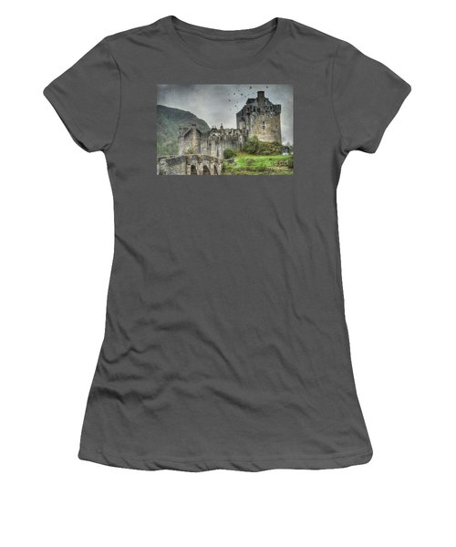 Eilean Donan Castle Women's T-Shirt (Junior Cut) by Juli Scalzi