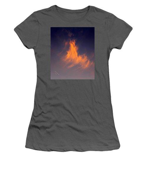 Fire In The Sky Women's T-Shirt (Junior Cut) by Jeanette C Landstrom
