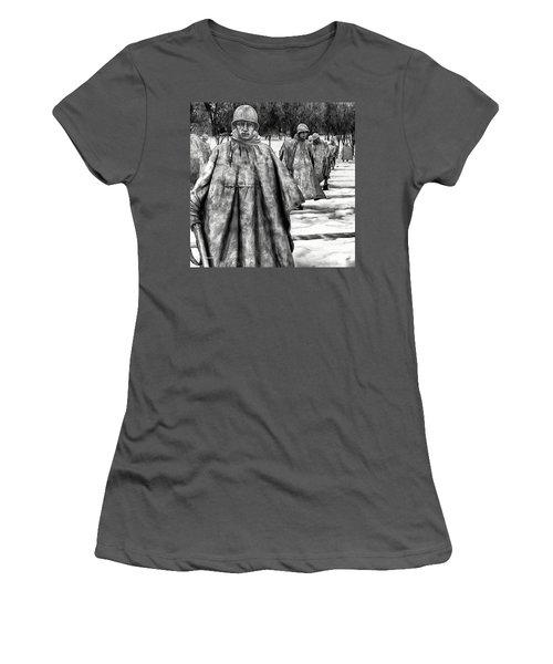 Korean War Memorial Washington Dc Women's T-Shirt (Athletic Fit)
