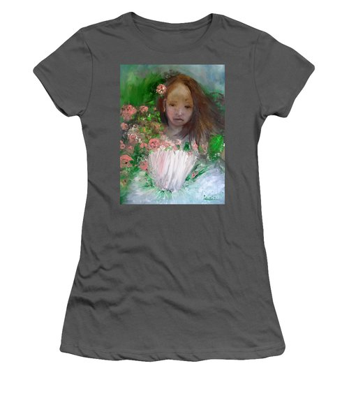 Mary Rosa Women's T-Shirt (Junior Cut) by Laurie L