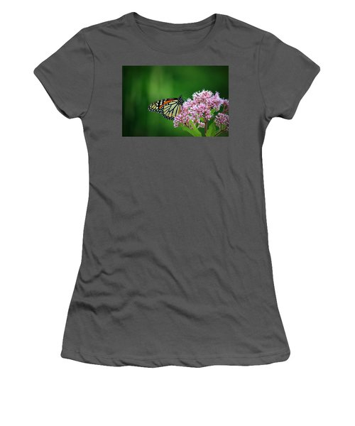 Monarch In Light  Women's T-Shirt (Athletic Fit)