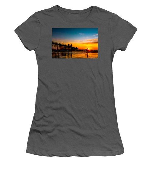Oceanside Pier At Sunset Women's T-Shirt (Athletic Fit)