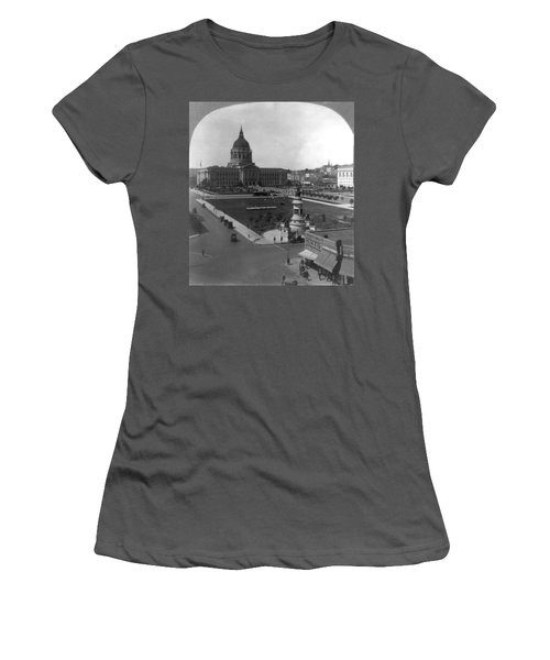 Women's T-Shirt (Junior Cut) featuring the photograph San Francisco City Hall by Granger