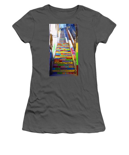 Stairway To Heaven Valparaiso  Chile Women's T-Shirt (Athletic Fit)