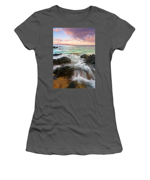 Sunrise Surge Women's T-Shirt (Junior Cut) by Mike  Dawson