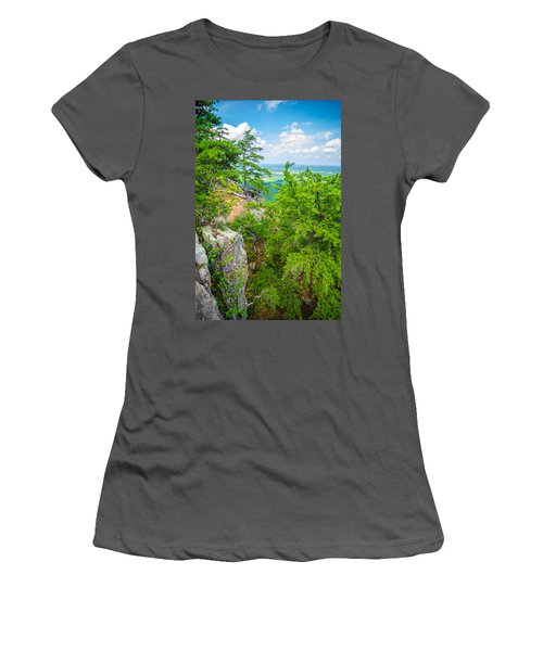 Beautiful Aerial Landscape Views From Crowders Mountain North Ca Women's T-Shirt (Athletic Fit)