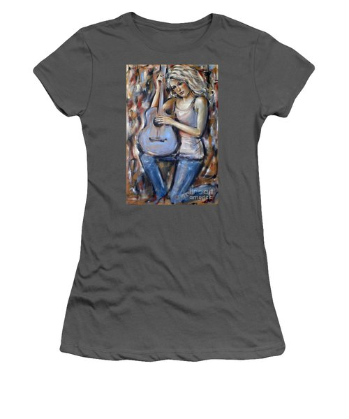 Blue Guitar 010709 Women's T-Shirt (Athletic Fit)