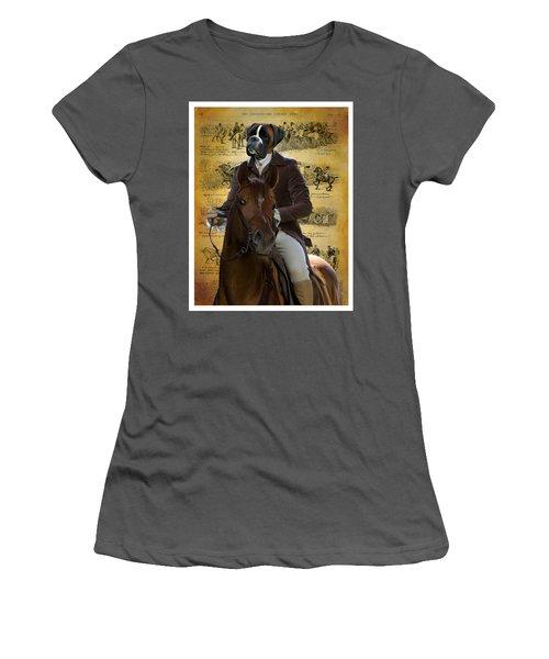 Boxer Art Canvas Print Women's T-Shirt (Athletic Fit)