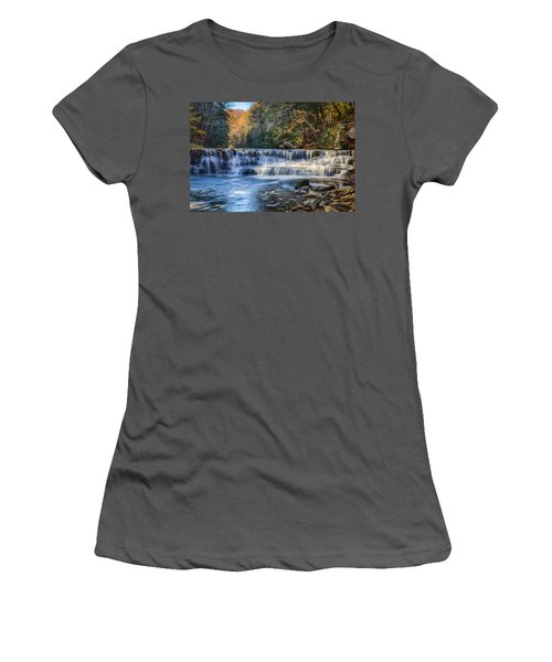 Squaw Rock - Chagrin River Falls Women's T-Shirt (Athletic Fit)