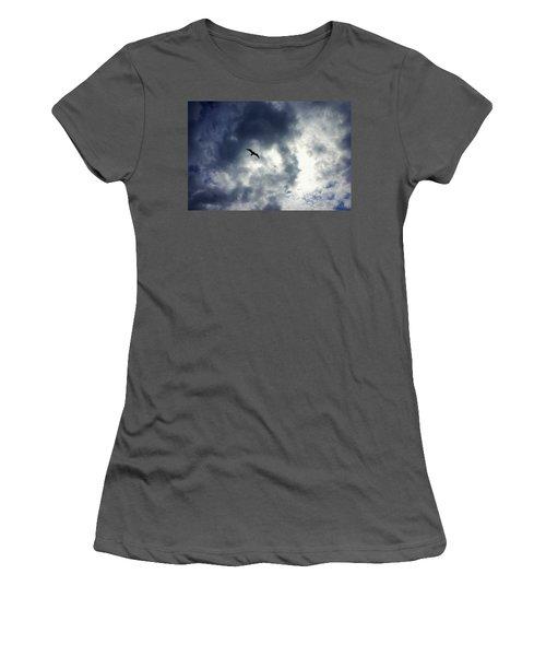 Women's T-Shirt (Junior Cut) featuring the photograph Storm Flyer by Marilyn Wilson