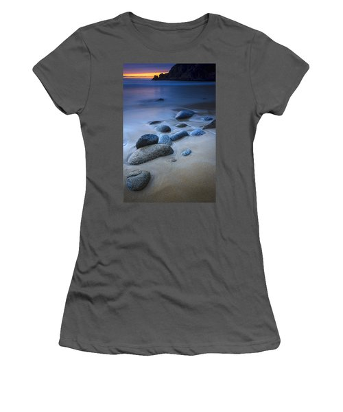 Women's T-Shirt (Junior Cut) featuring the photograph Campelo Beach Galicia Spain by Pablo Avanzini