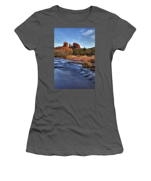 Cathedral Rocks In Sedona Women's T-Shirt (Athletic Fit)