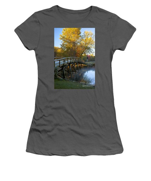 Old North Bridge Concord Women's T-Shirt (Athletic Fit)