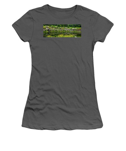 Rocks And Plants In Rock Garden Women's T-Shirt (Athletic Fit)