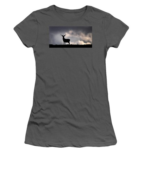 Stag Silhouette Women's T-Shirt (Athletic Fit)
