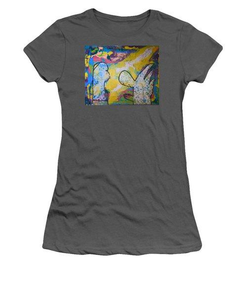 The Annunciation Women's T-Shirt (Junior Cut) by Gloria Ssali