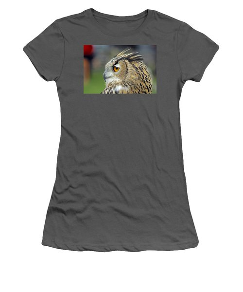 European Eagle Owl Women's T-Shirt (Athletic Fit)