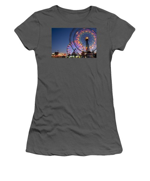 Evergreen State Fair With Ferris Wheel Women's T-Shirt (Athletic Fit)