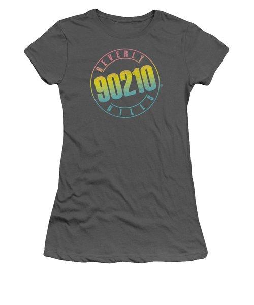 90210 - Color Blend Logo Women's T-Shirt (Athletic Fit)