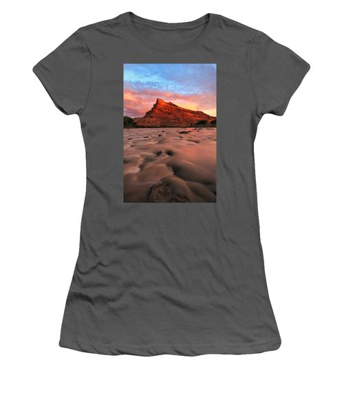 Women's T-Shirt (Junior Cut) featuring the photograph A Chocolate Milk River by Ronda Kimbrow