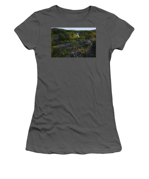 A Creek In Llano County  Women's T-Shirt (Junior Cut) by Susan Rovira
