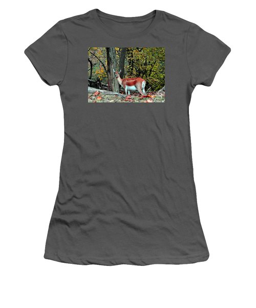 A Deer Look Women's T-Shirt (Athletic Fit)