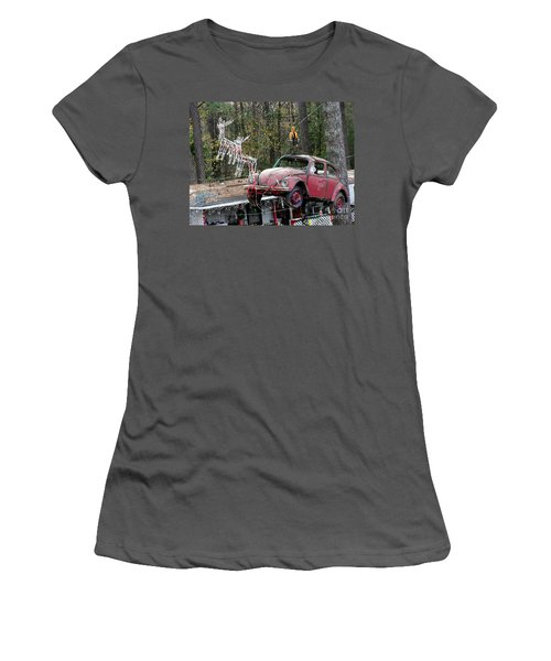 Women's T-Shirt (Junior Cut) featuring the photograph A Difference Sleigh  by Donna Brown