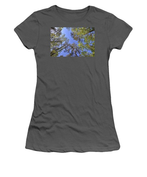 A Forest Sky Women's T-Shirt (Junior Cut) by Gordon Elwell
