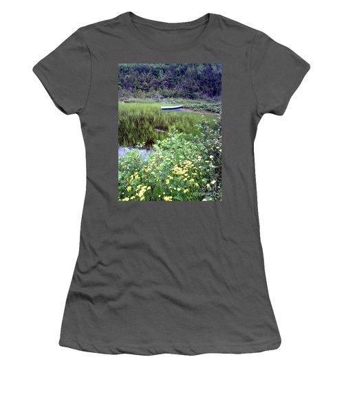 A Little Flat Awaiting Women's T-Shirt (Junior Cut) by Barbara Griffin