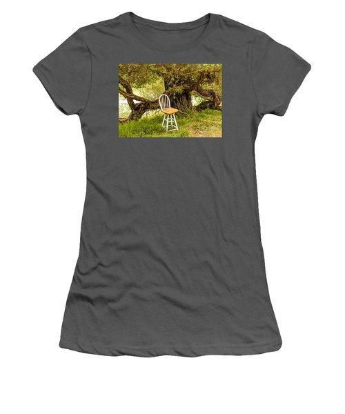 A Little Solitude Women's T-Shirt (Athletic Fit)