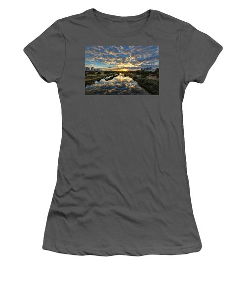 A Magical Marshmallow Sunrise  Women's T-Shirt (Athletic Fit)