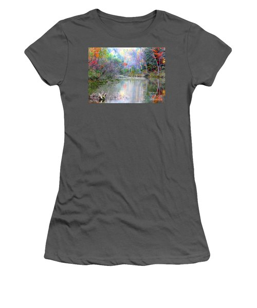 A Monet Autumn Women's T-Shirt (Athletic Fit)