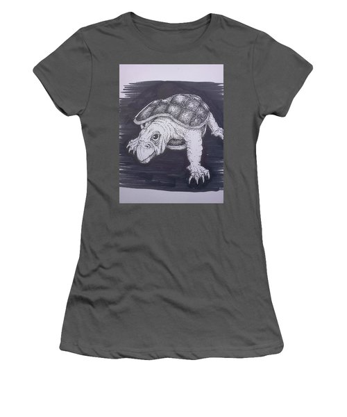 A Turtle Named Puppy Women's T-Shirt (Athletic Fit)