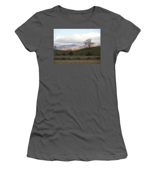 Women's T-Shirt (Junior Cut) featuring the photograph A Walk In The Countryside In Lake District England by Tiffany Erdman