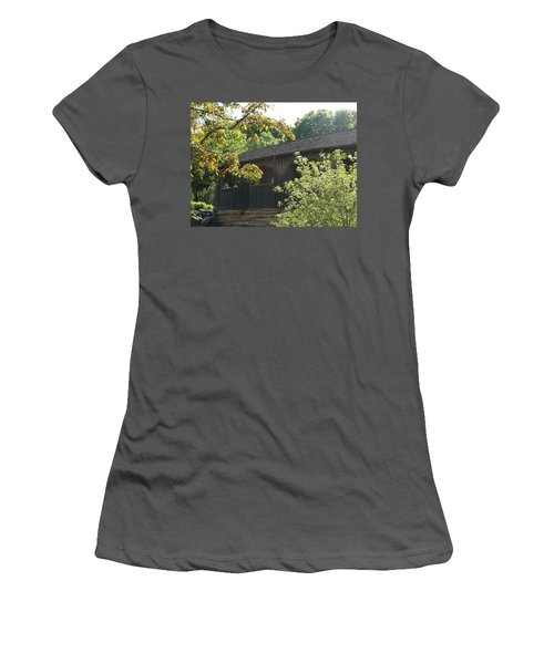 Women's T-Shirt (Junior Cut) featuring the photograph A Walk In The Park by Tiffany Erdman