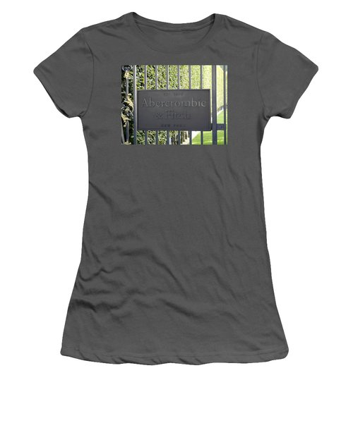 Abercrombie And Fitch Store In Paris France Women's T-Shirt (Junior Cut) by Richard Rosenshein