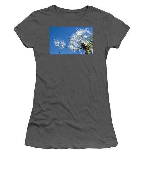 About To Leave - Dandelion Seeds Women's T-Shirt (Athletic Fit)