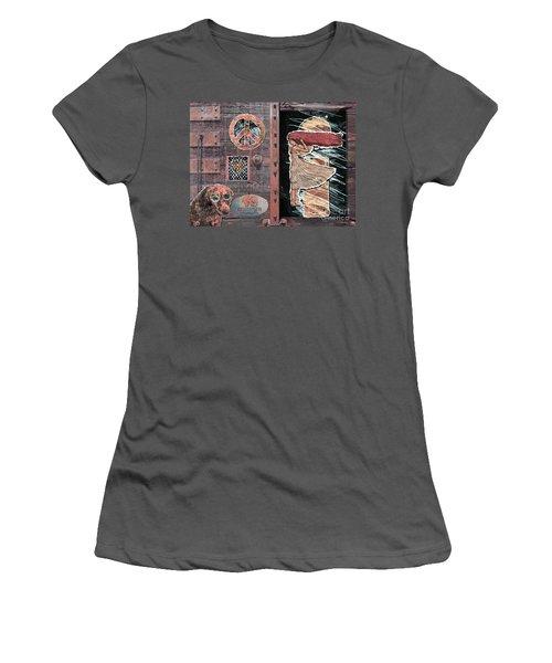 Absinthe Night In Brussels Women's T-Shirt (Junior Cut) by Joseph J Stevens