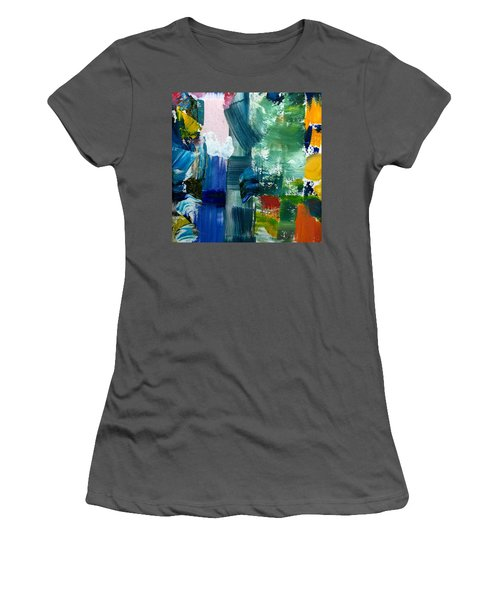 Abstract Color Relationships Lll Women's T-Shirt (Athletic Fit)