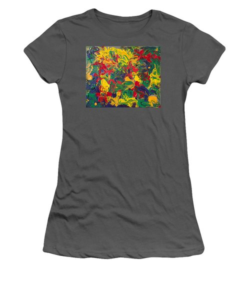 Abstract Painting - Color Explosion Women's T-Shirt (Athletic Fit)