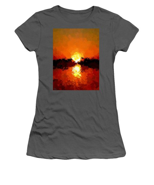 Abstract Sunset On The Sea Women's T-Shirt (Athletic Fit)