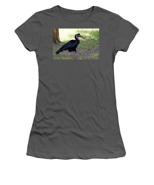 Abyssinian Ground-hornbill Women's T-Shirt (Athletic Fit)