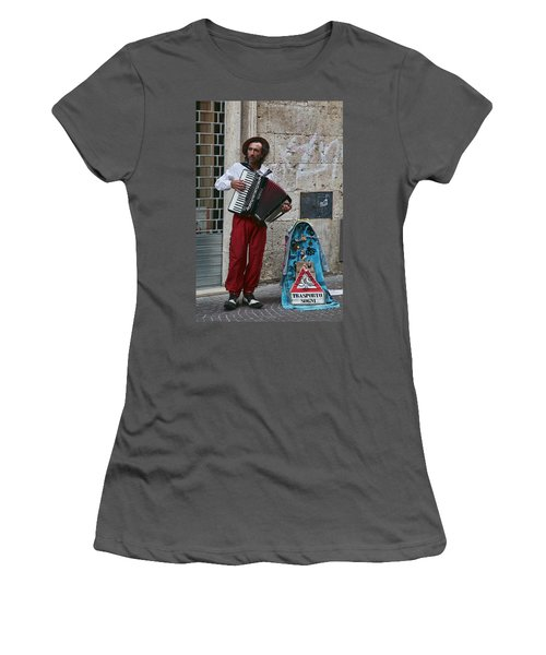 Accordian Player Women's T-Shirt (Athletic Fit)