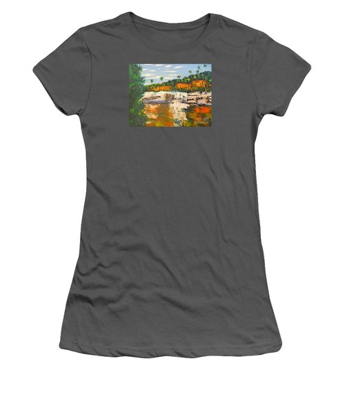 Adele Gorge At Lawn Hill National Park Women's T-Shirt (Athletic Fit)