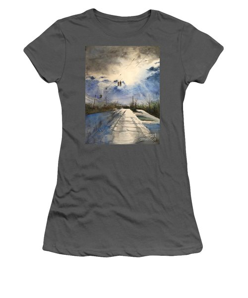 After Rain -on The Michigan Ave. Saline Michigan Women's T-Shirt (Athletic Fit)